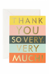 rifle paper co. colorblock thank you card