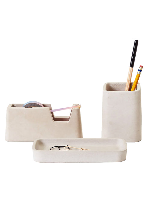Concrete Desk Set - Grey - Tigertree