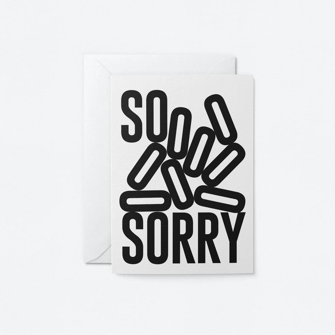 So Sorry Greeting Card - Tigertree