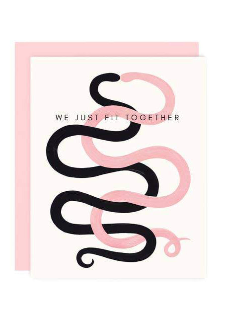 We Just Fit Together Greeting Card - Tigertree