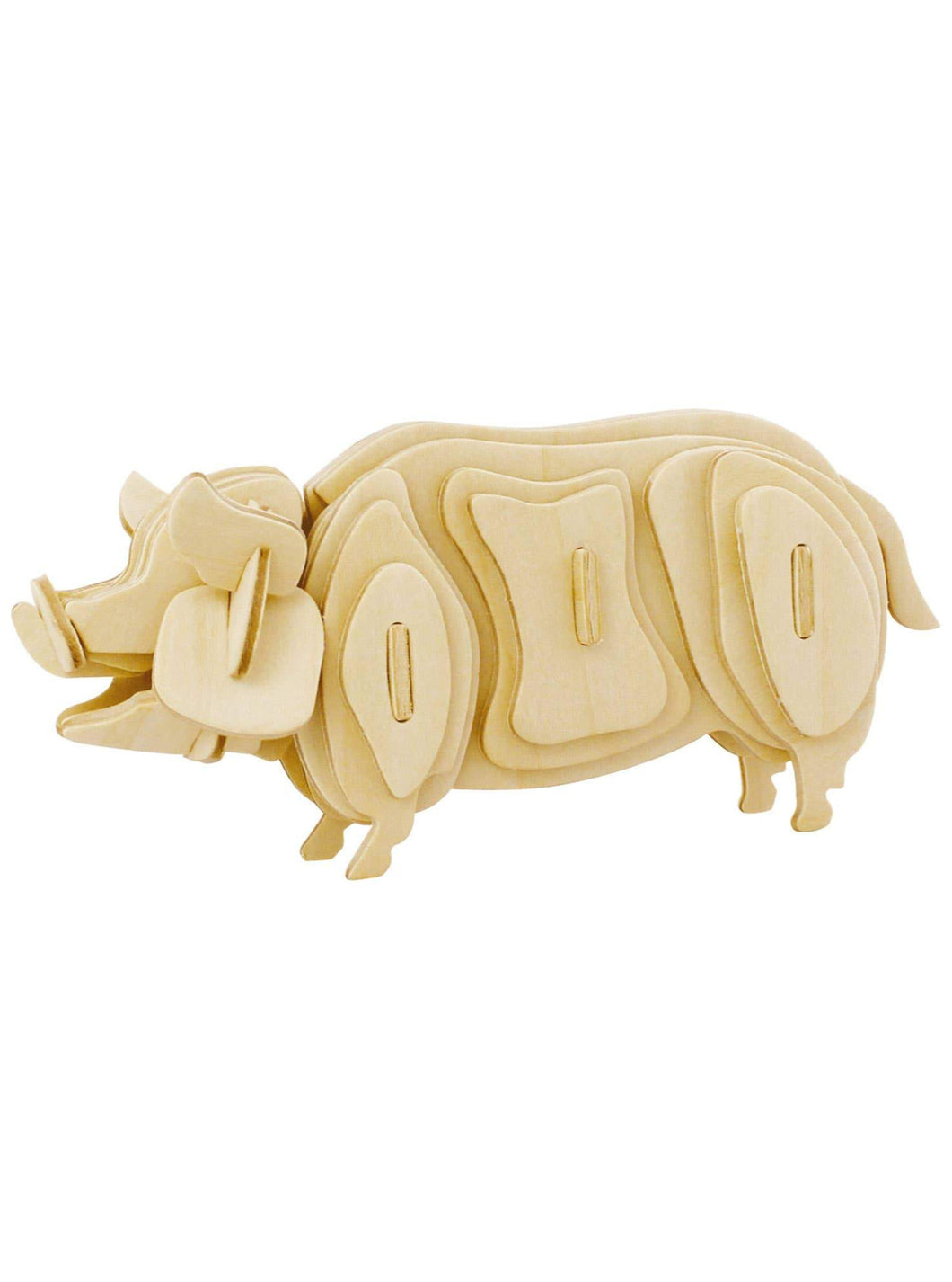 3D Wooden Puzzle: Pig - Tigertree