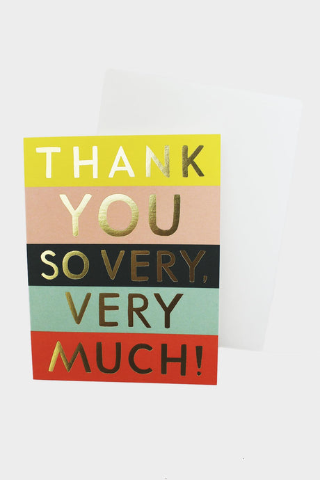 Color Block Thank You Card - Tigertree