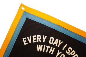 Everyday is a Gift Camp Flag - Tigertree