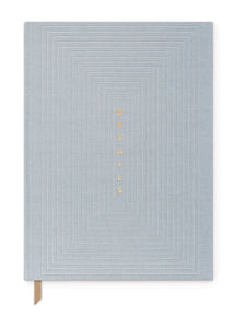 Dusty Blue Details Notebook - Tigertree
