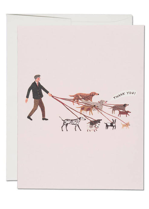 Dog Walker Thanks Card - Tigertree
