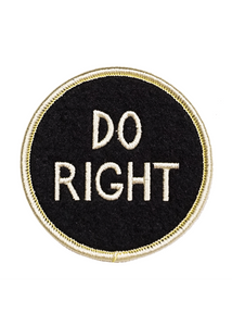 Do Right Embroidered Patch - Tigertree