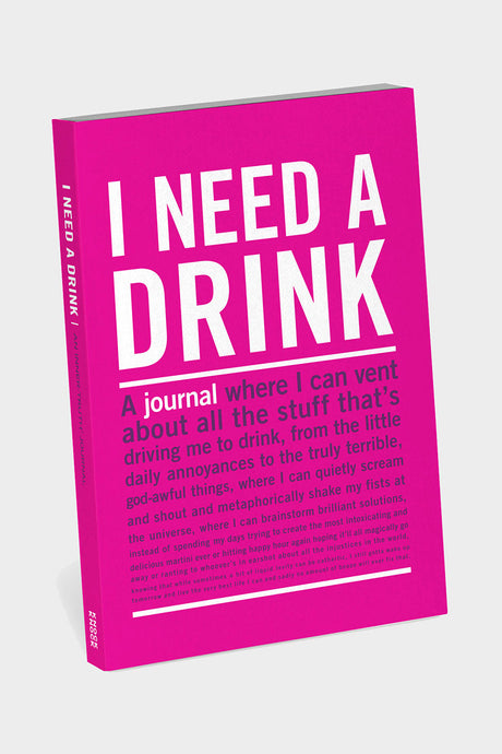 I Need A Drink Mini Journal - Tigertree