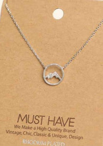 Mountain Range Pendant Necklace Silver - Tigertree