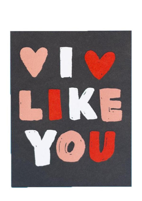 I Like You Heart Card - Tigertree