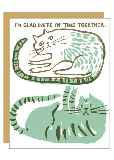 Cats In This Together Card - Tigertree