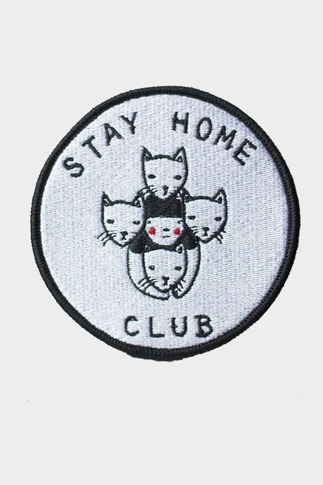 Stay Home Club Iron On Patch - Tigertree