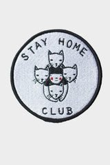 Stay Home Club Iron On Patch