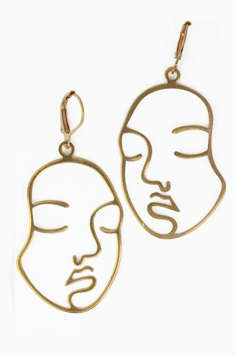 Faces Earrings - Tigertree
