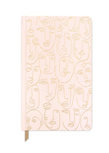 Blush Pink Faces Journal - Tigertree
