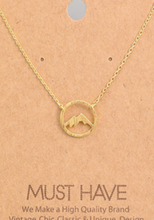 Load image into Gallery viewer, Mountain Range Pendant Necklace Gold - Tigertree
