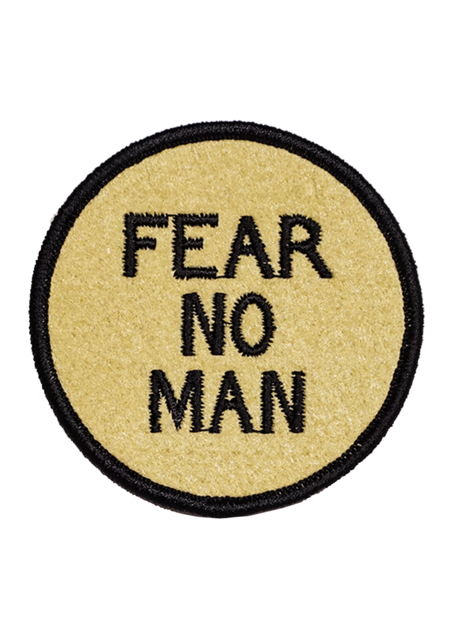 Fear No Man Embroidered Patch - Tigertree