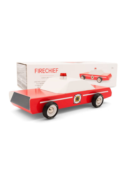 Fire Chief Wooden Car - Tigertree