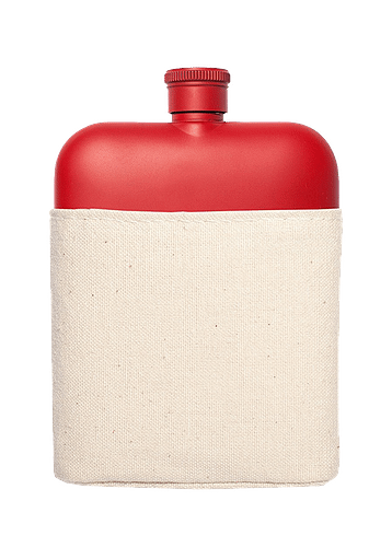 Red Flask with Canvas Carrier - Tigertree
