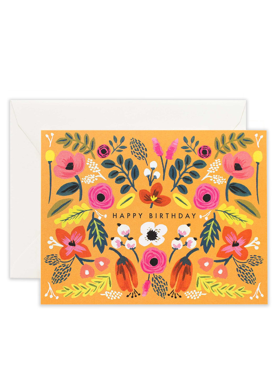 Folk Birthday Card - Tigertree