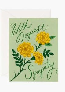 Marigold Sympathy Card - Tigertree