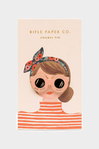 rifle paper co glasses pin