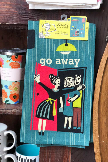 Go Away Dish Towel - Tigertree