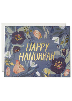 Hanukkah Flowers Card - Tigertree