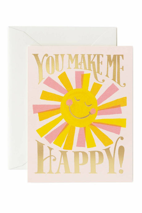 You Make Me Happy Card - Tigertree