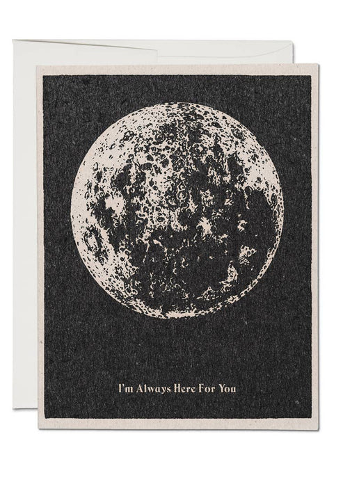 Here For You Moon Card - Tigertree