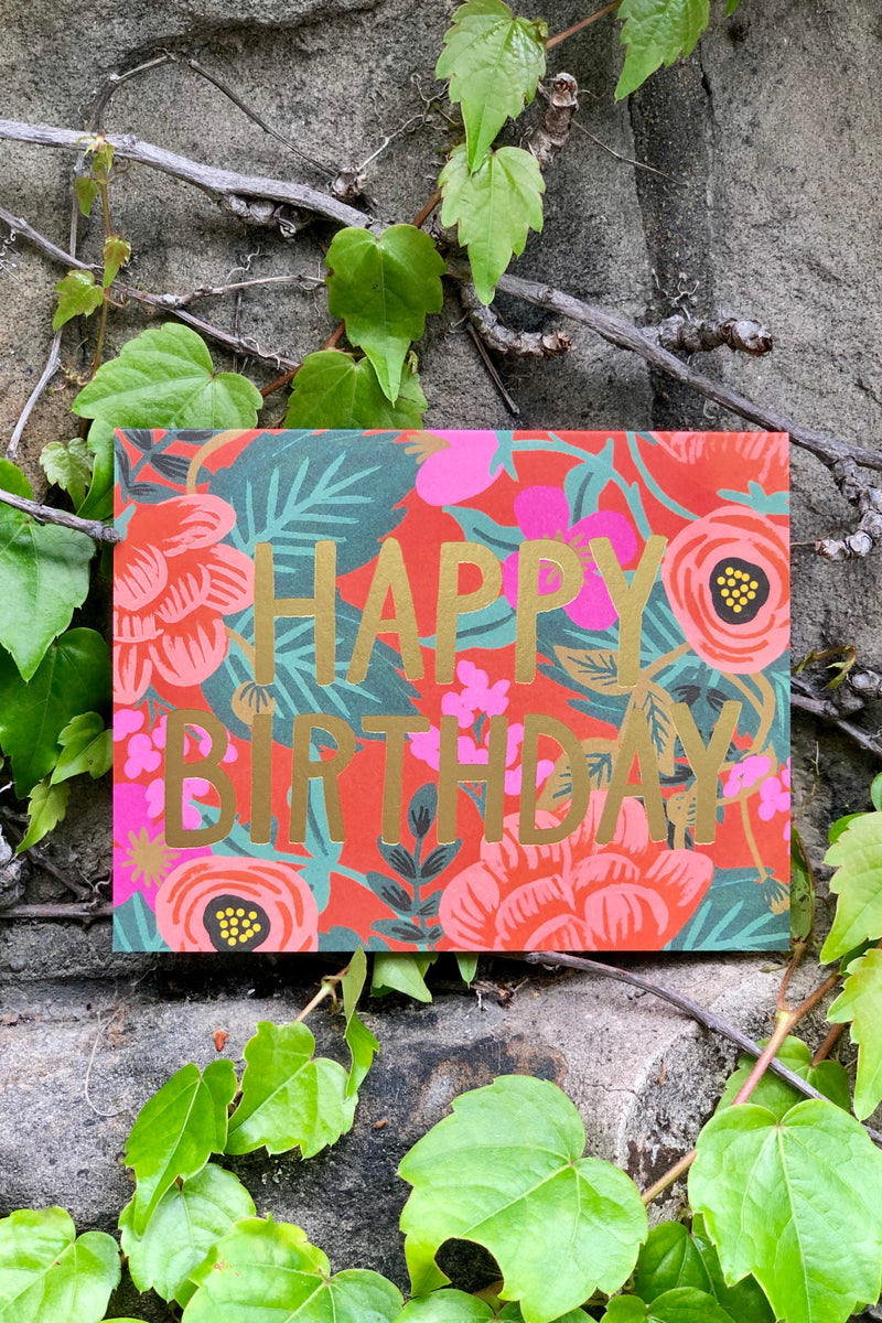 rifle paper co poppy birthday card