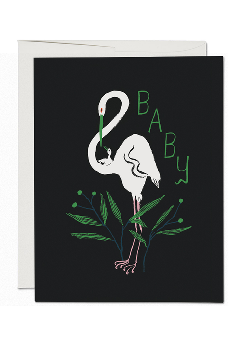 Egrets Baby Card - Tigertree
