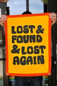 lost and found camp flag