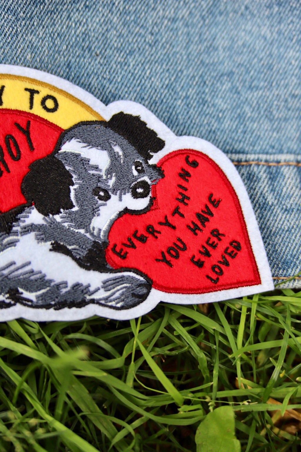 stay home club valentine patch