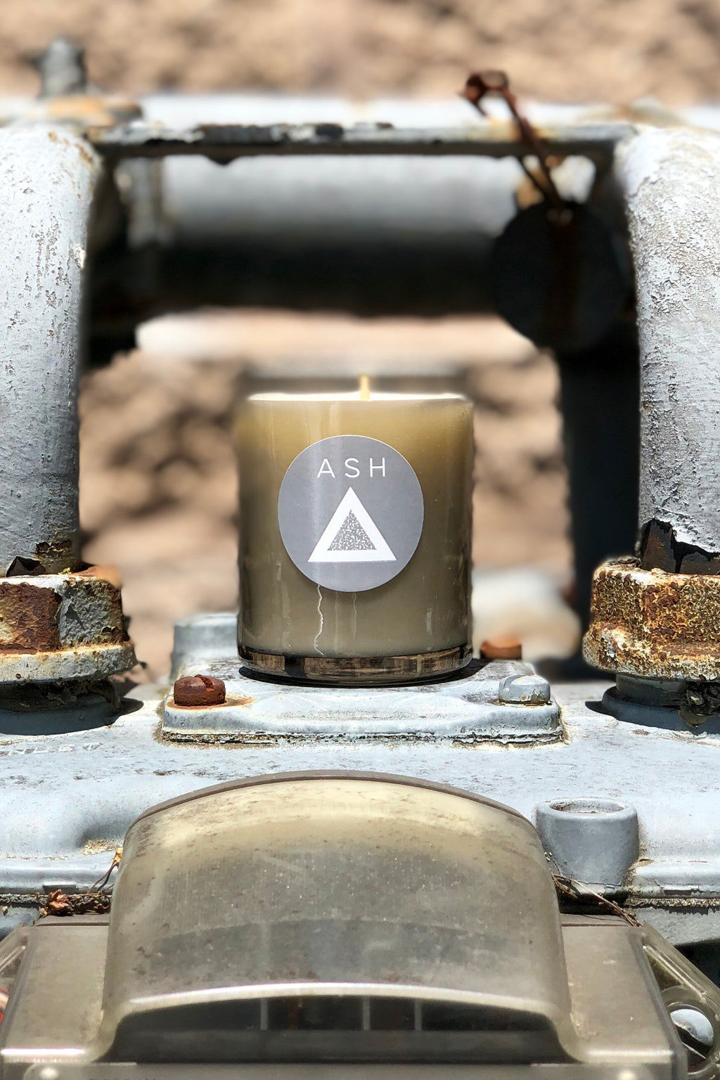 volcanic ash candle