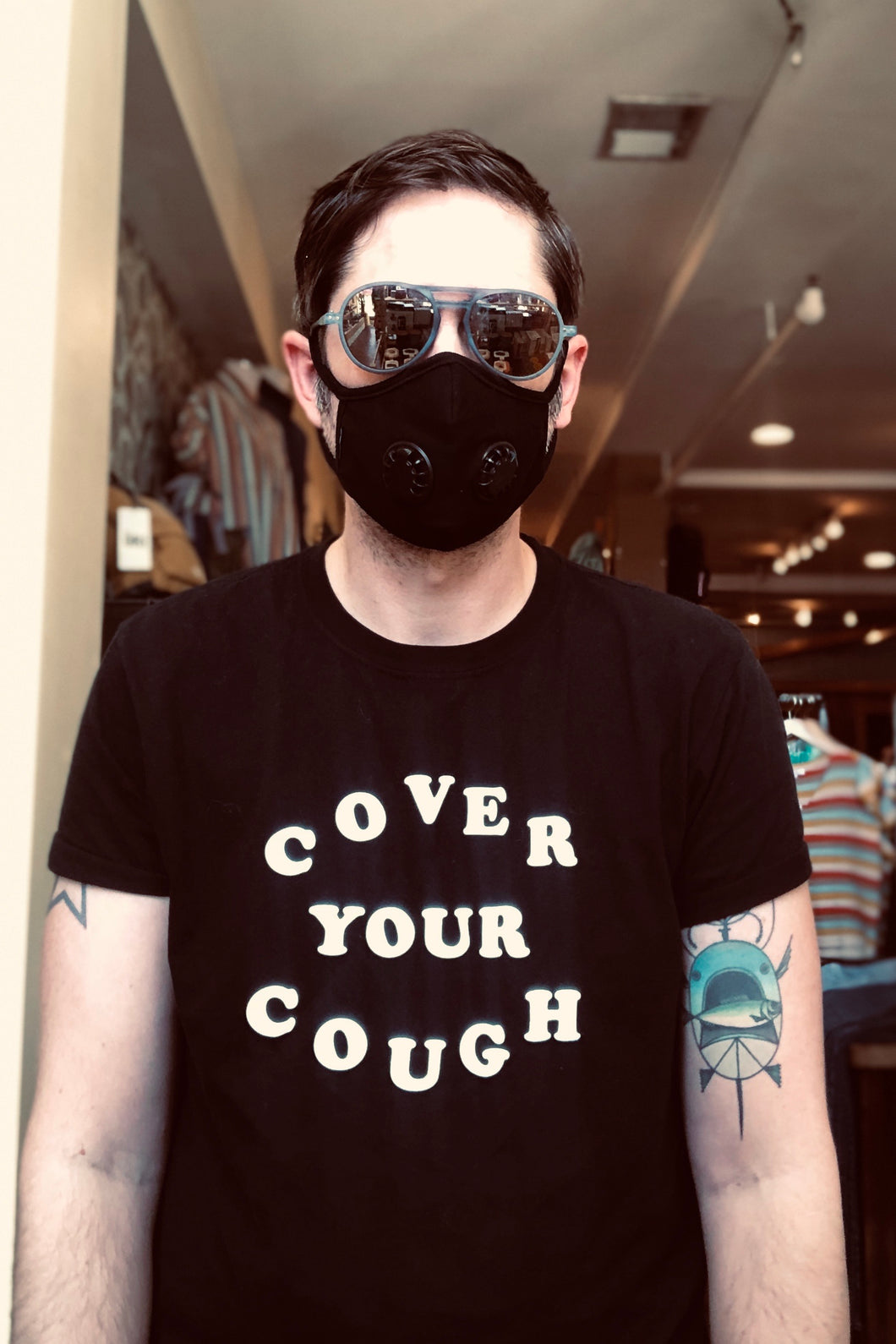 Cover Your Cough Tee - Tigertree