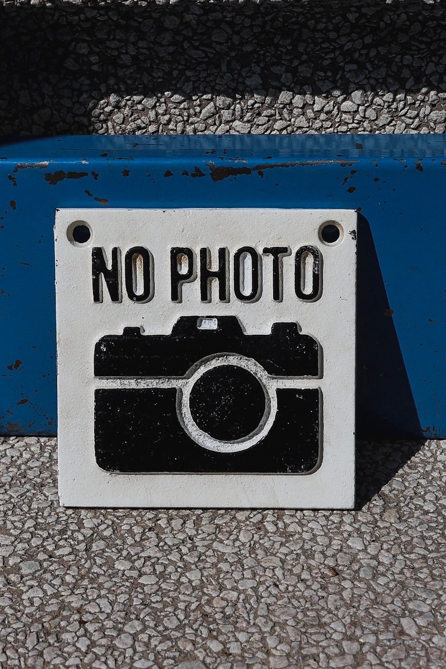 No Photo Cast Iron Sign - Tigertree