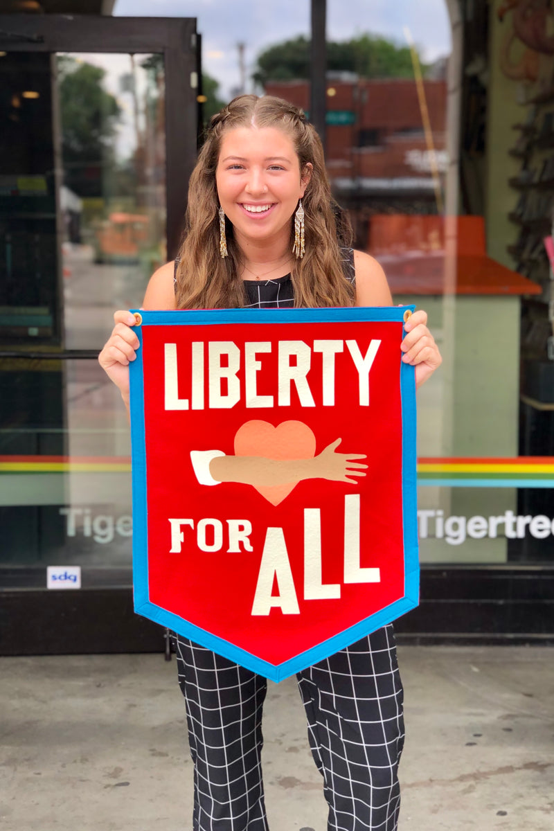 liberty for all camp flag oxford pennant