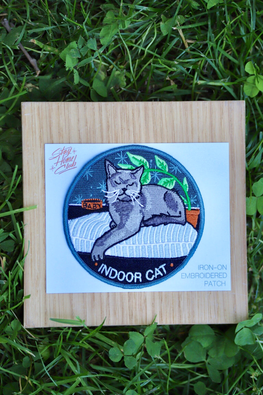 Indoor Cat Iron On Patch - Tigertree