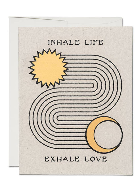 Inhale Exhale Card - Tigertree