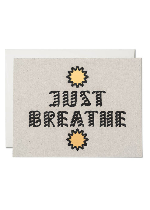 Just Breathe Card - Tigertree