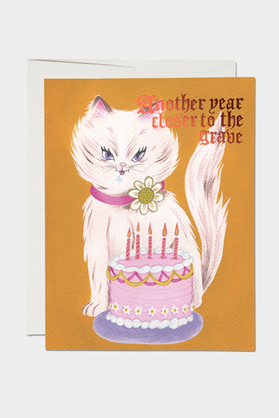 Kitty and Cake Foil Card
