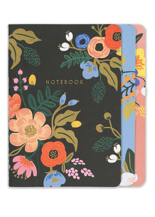 Lively Floral Stitched Notebooks 3 pk - Tigertree