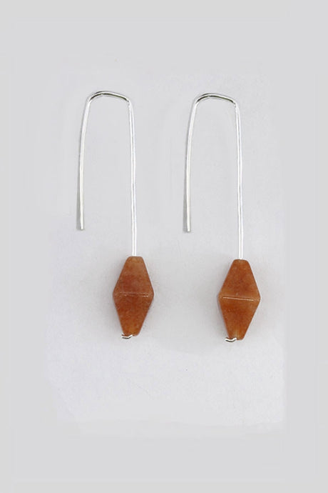 Threads Red Aventurine Earrings - Tigertree