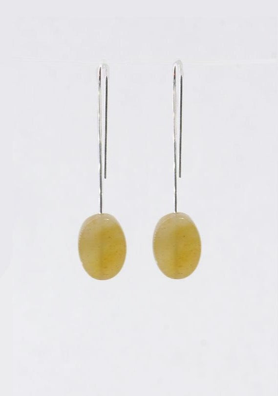 Threads Topaz Jade Earrings - Tigertree