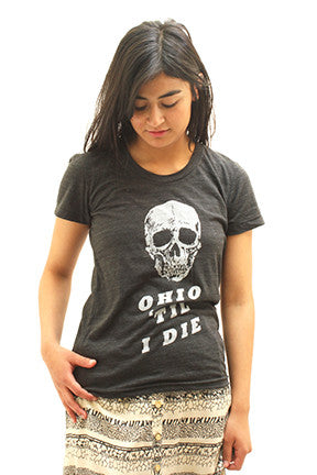 Womens Ohio 'Til I Die Tee - Tigertree - 1