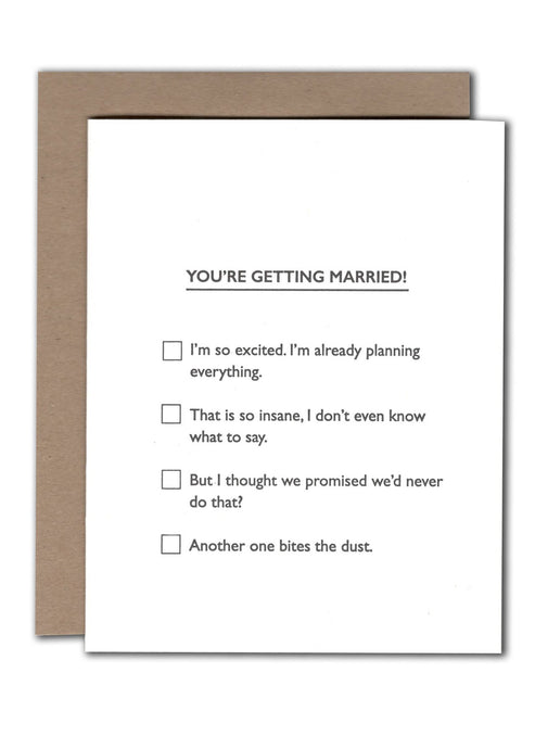 Marriage Multiple Choice Card - Tigertree