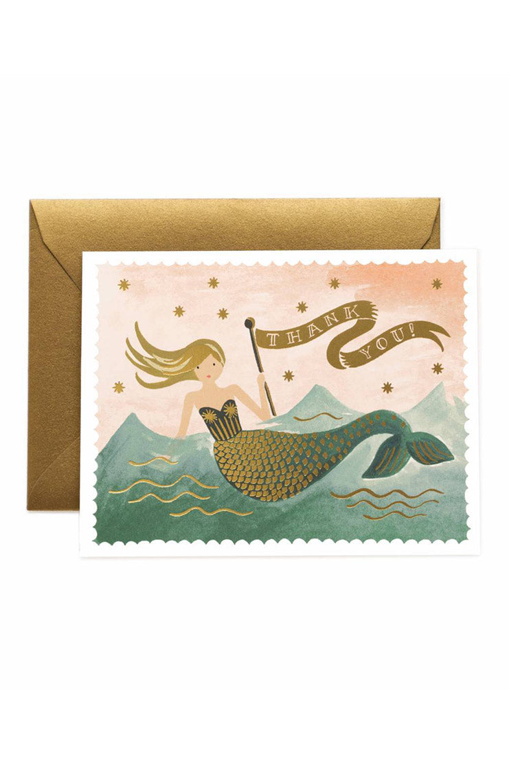 Mermaid Thank You Card