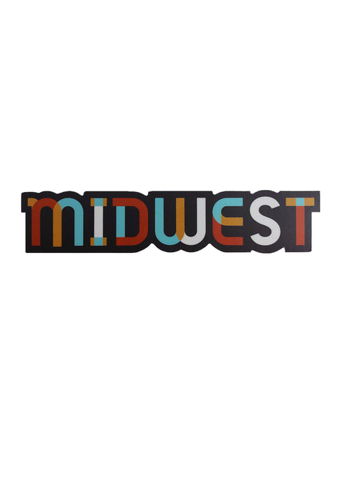 Colorblock Midwest Sticker - Tigertree