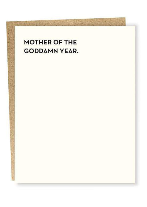 Mother of the Year Card - Tigertree