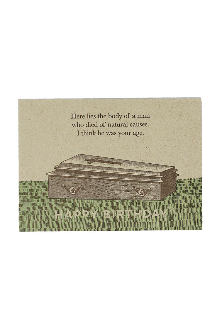 natural causes birthday card